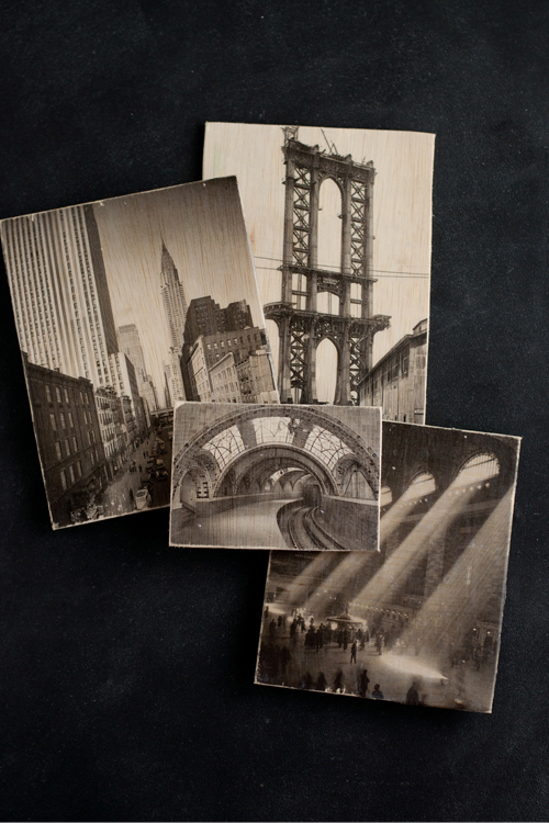 DIY: Wooden postcard with photo transfers. So cool!