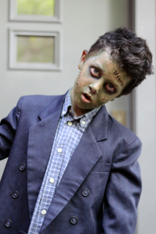Homemade Frankenstein Halloween Costume DIY. Cheap and easy!