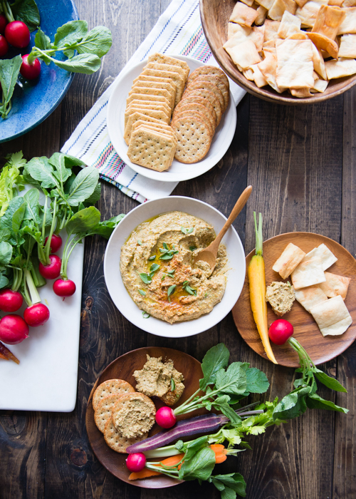 Almond Feta Dip - Healthy + Yummy. You will want to eat it on EVERYTHING!
