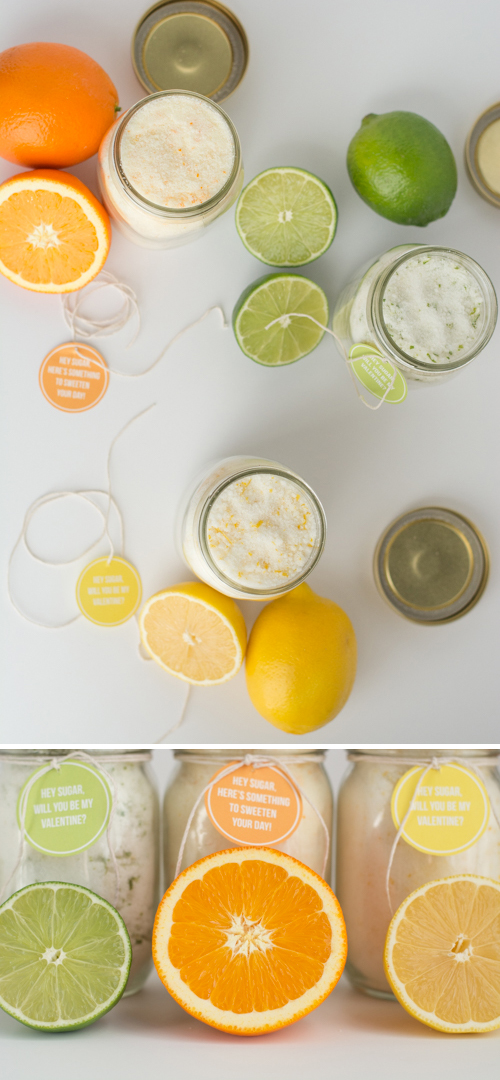 EASY Citrus Sugar Recipe. Make Lemon, Lime, or Orange sugar and add some flavor to your baked goods. Free printable!