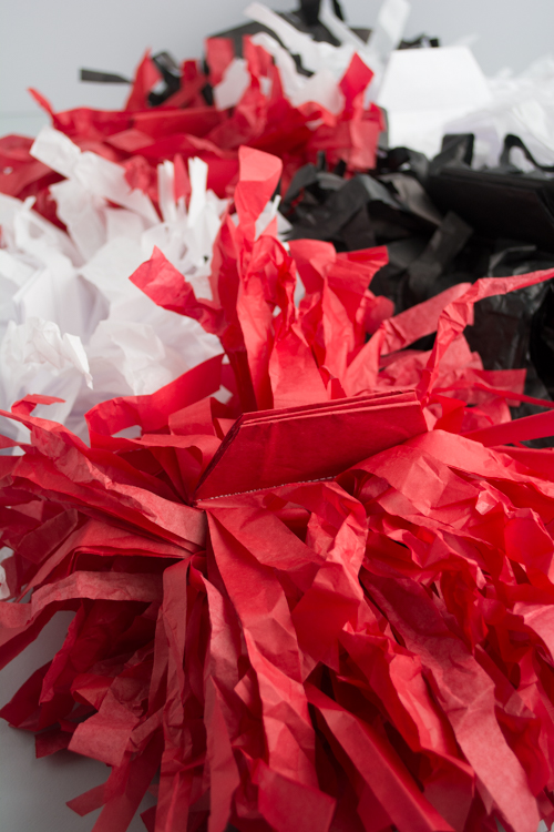 Cutest, Easiest DIY: Make these Kid-Size Paper Pom Poms for Game Day!