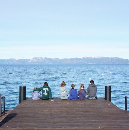 Blairs on the dock at Lake Tahoe