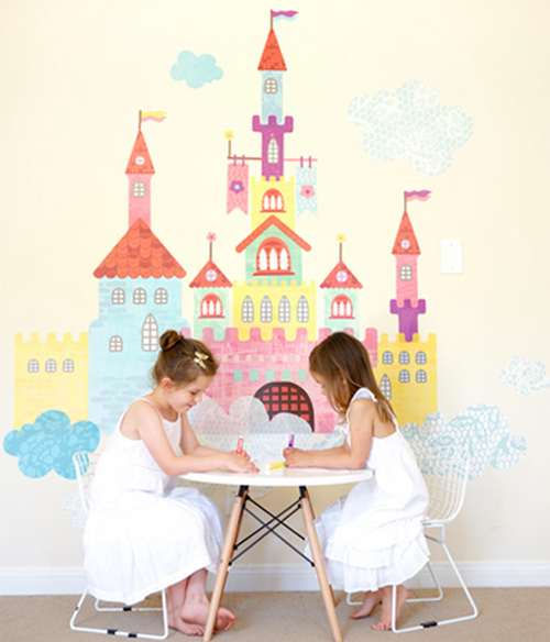 create a castle wall decal