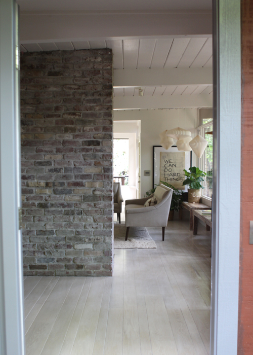 """Entryway Styled 3 Different Ways — Here's the """"Before"""" photo."""