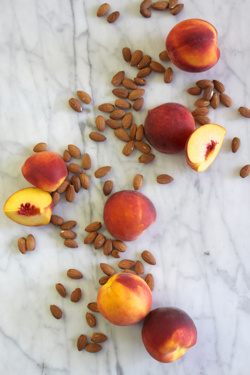 """Healthy Snack: Raw Almonds + Peaches. In a snack-time rut? Click through for food """"pairings"""" that will spice things up!"""