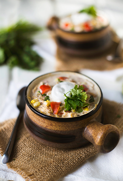 White Chicken Chili Recipe for the Crockpot | Design Mom