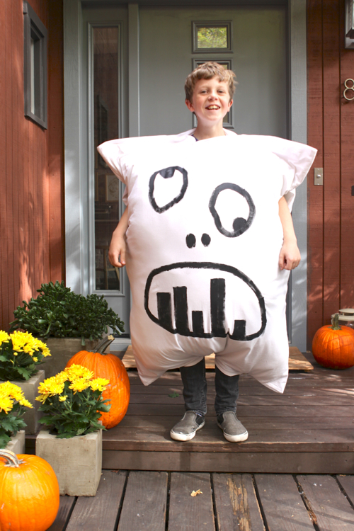 Homemade Pillow Monster Halloween Costume DIY. Cheap and easy!
