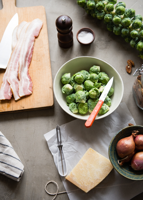 Shaved Brussels Sprouts with Crispy Bacon | Design Mom
