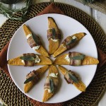 Thanksgiving Side Dish: Bacon-Wrapped Sweet Potatoes with Herbed Goat Cheese | Design Mom