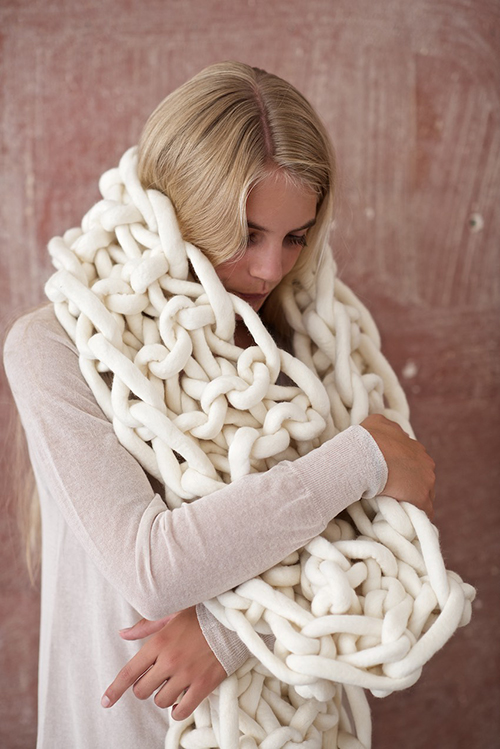 Diy Giant Knit Mega Scarf Design Mom