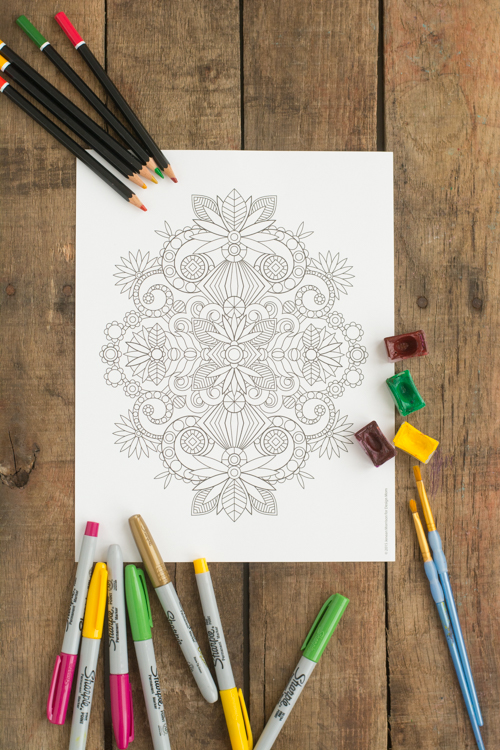 Printable Coloring Page - a perfect way to destress and relax | Design Mom