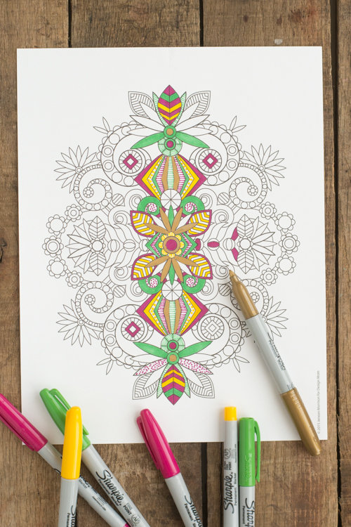 A Printable Coloring Page from Jenean Morrison for Design Mom | Design Mom
