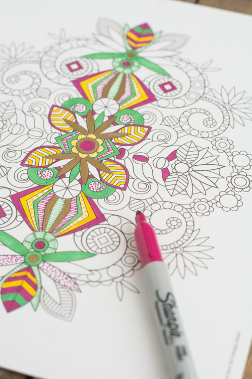 Let's Color! A printable coloring page, the perfect way to relax | Design Mom