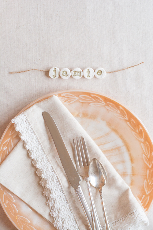 Stamped Place Cards | Design Mom