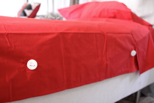 New bedding for kids by Sleep Number. The sheets don't crumple at the bottom of the mattress. So cool!