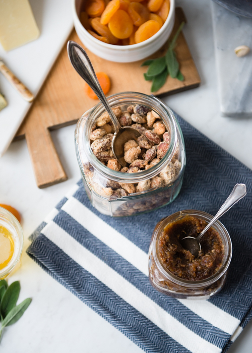 bacon jam and candied nuts