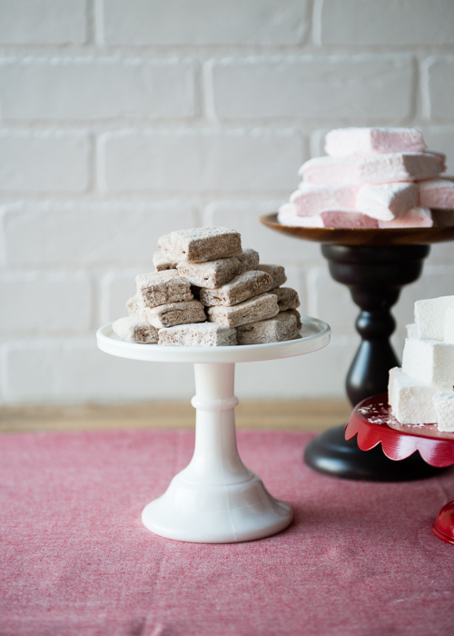 chocolate, peppermint and vanila marshmallows