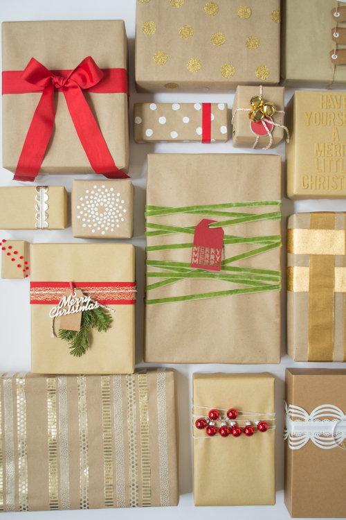 Have a plain brown paper package? Here's a few ideas how to dress it up! | Design Mom