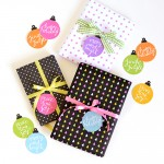 Colorful Bauble Gift Tags - Print them yourself!   Design Mom