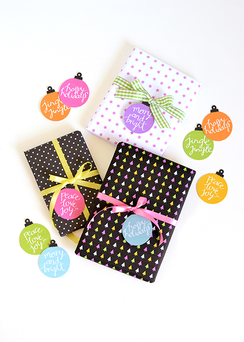 Colorful Bauble Gift Tags - Print them yourself! | Design Mom