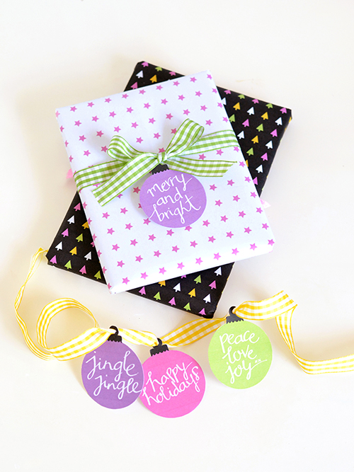 Free Colorful Printable Bauble Gift Tags | Design Mom