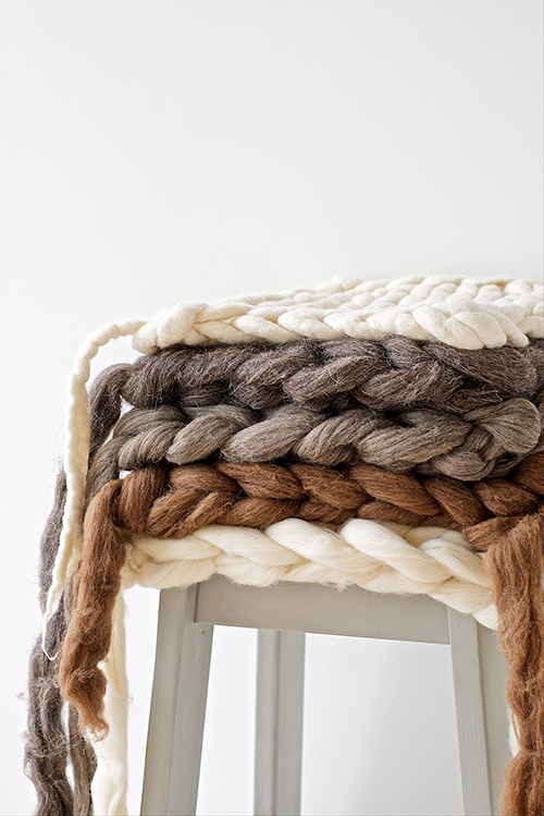 DIY: Chunky Knit Wool Seat Pads ? Design Mom