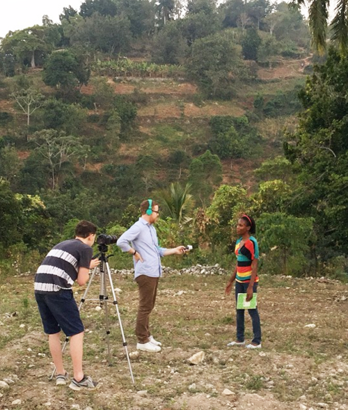 ben and ralph filming in haiti