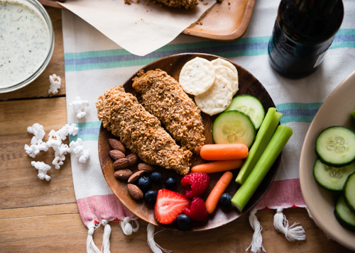 game day almond crusted chicken tenders