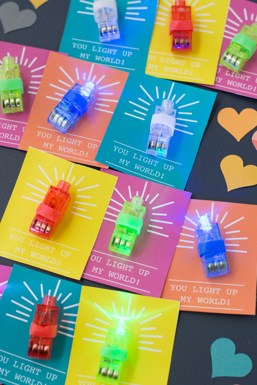 Non-Candy Printable Valentine for School! You Light Up My World | Design Mom