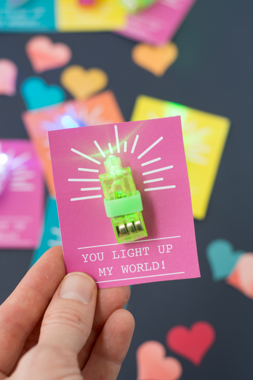 You Light Up My World, A Finger Light Valentine | Design Mom