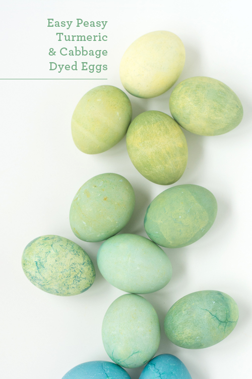 Easy Natural Dye Easter Eggs: Turmeric & Cabbage for Green