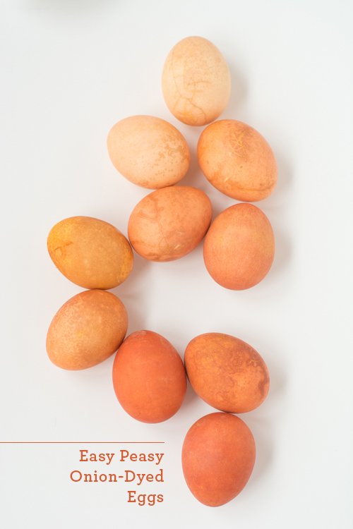 Easy Natural Dye Easter Eggs: Use Onion for Orange