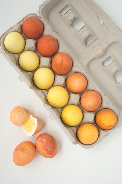 Easy Natural Dye Easter Eggs: Use Onion & Turmeric for Orange & Yellow