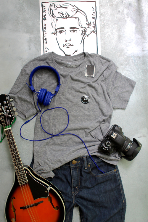 Teen boy outfit styled with Schoola clothing. An online thrift shop with gently used clothing at bargain prices. Proceeds fund school art and music programs.