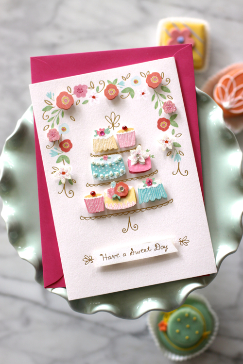 Gorgeous Mother's Day Card from Hallmark. Cute 3-D elements.