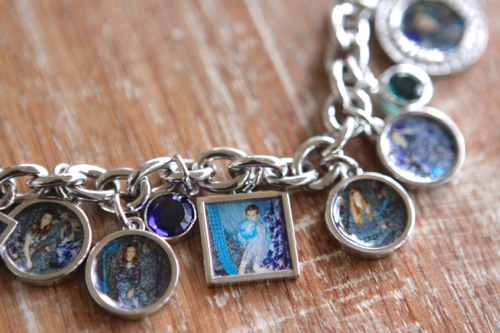 Custom Photo Charms in squares and circles for your bracelet.