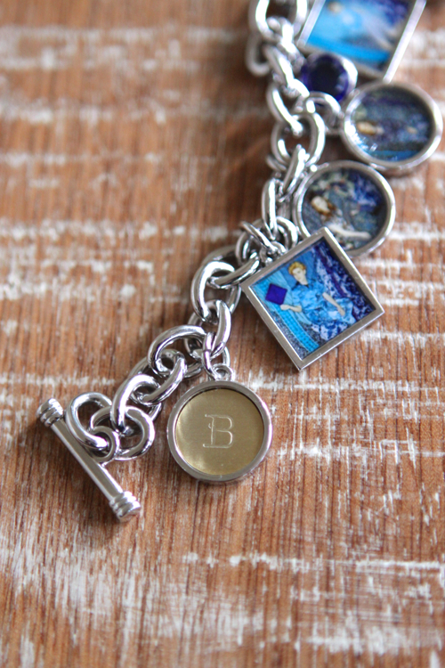 Custom Photo Charms and Initial Charms for your bracelet.