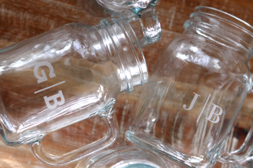 Custom Monogrammed Mason Jars - cute personalized gift!