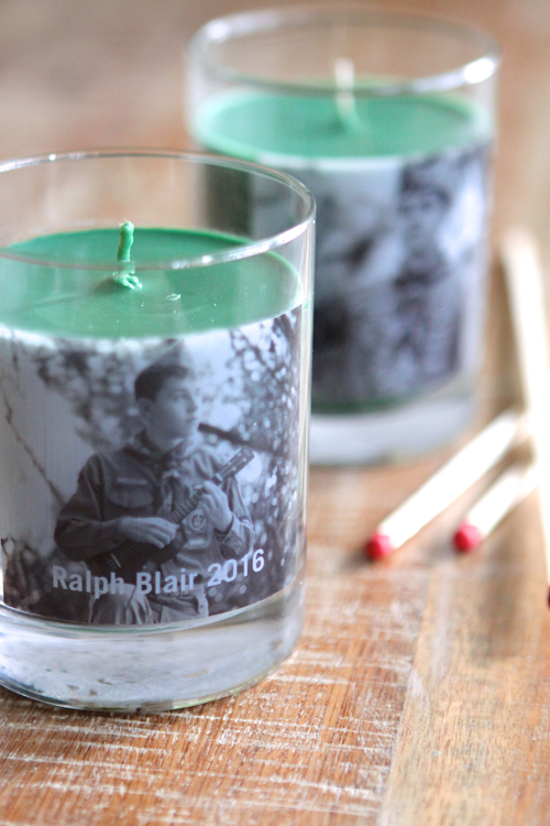 Scented Candles with Personal Photos added. Great gift idea.