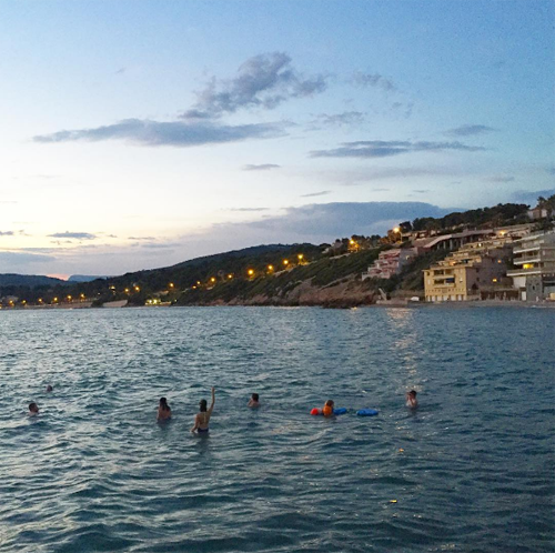 sunset swimming sanary sur mer