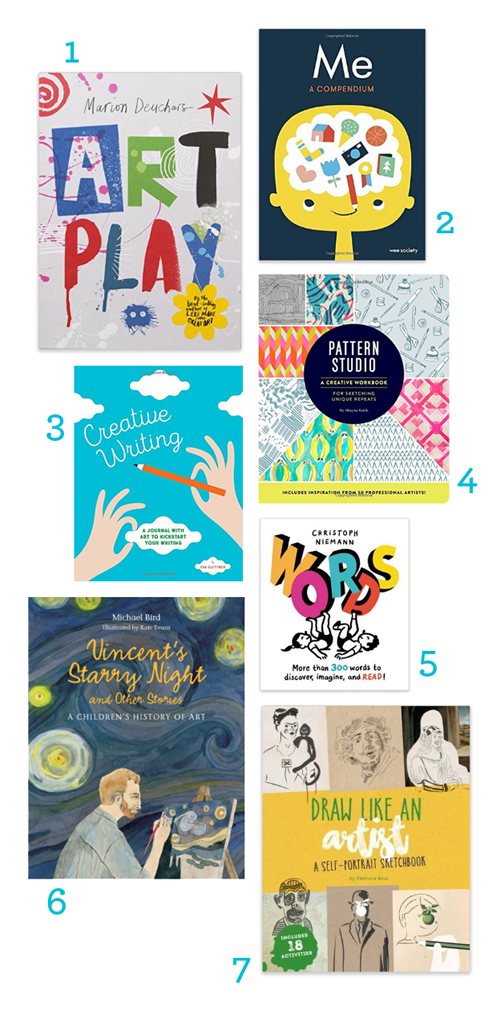 7 Journals & Workbooks for Artists & Writers (Mostly for Kids, but Grownups Will Like These Too)
