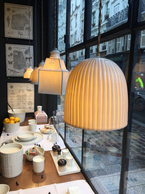 handmade French porcelain light fixtures by Alix D. Reynis