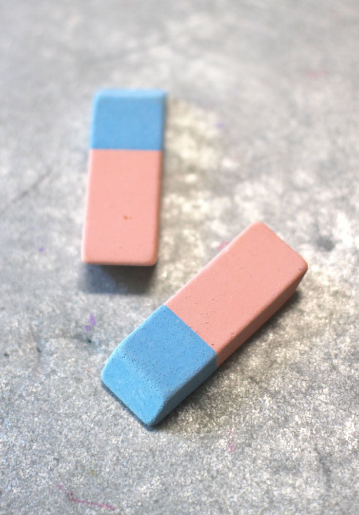 Favorite French School Supplies - colorblock erasers