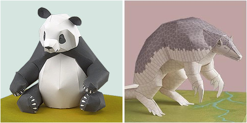 Rare Animals Papercraft Design Mom