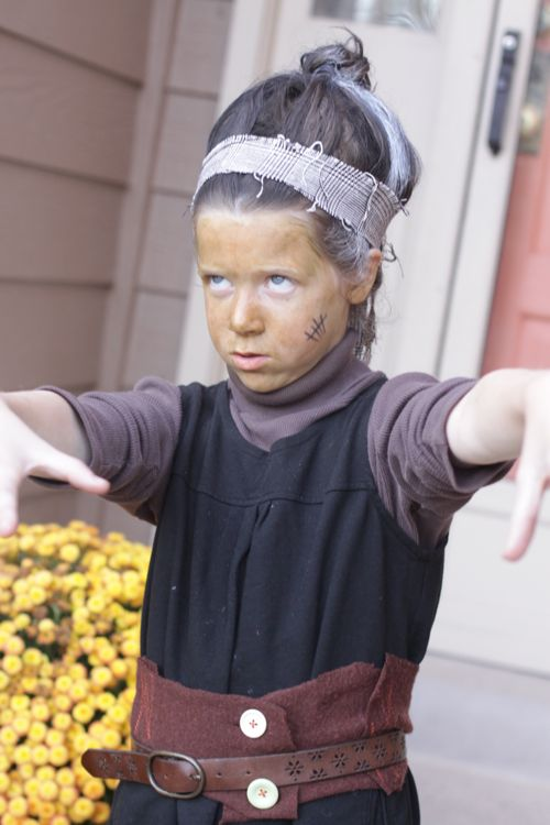 Homemade Mrs. Frankenstein Halloween Costume DIY.