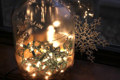 bottle christmas lights twinkle DIY - Christmas Lights in a Bottle tutorial featured by popular lifestyle blogger, Design Mom