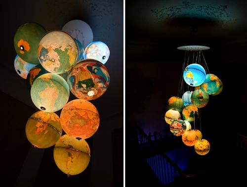 globe light fixture chandelier benoit vieubled
