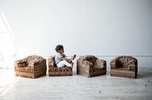 child cardboard chair Peter Oyler