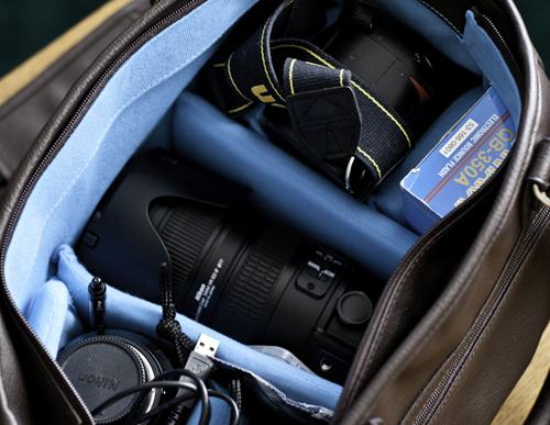 epiphanie camera bag interior