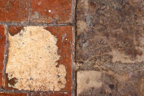 old stone floor la cressonniere kitchen